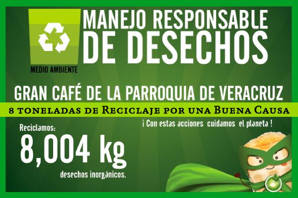 8 toneladas de Material reciclable a una buena causa